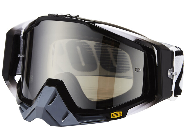 100% Racecraft Anti Fog Mirror Goggles abyss black